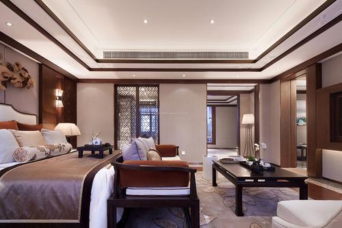 抚顺新中式卧室装修效果图