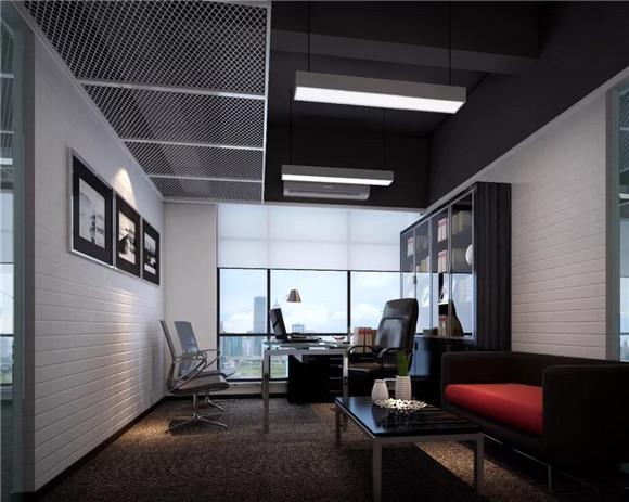 昆山写字楼办公室单间装修效果图
