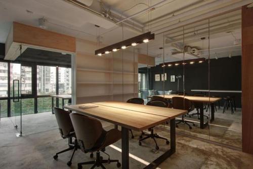 广州loft办公室装修接待区设计