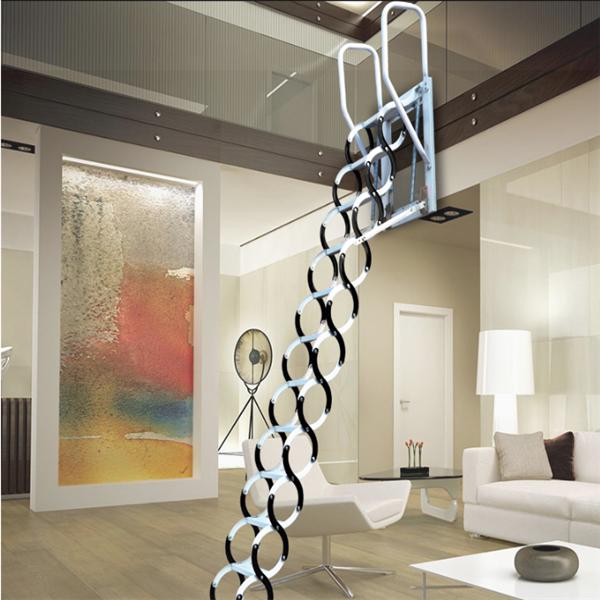 家用伸縮樓梯帶扶手