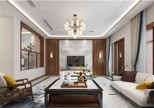 西安300平新中式别墅装修效果图