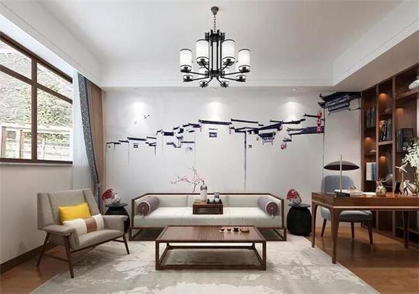 新中式别墅茶室装修效果图