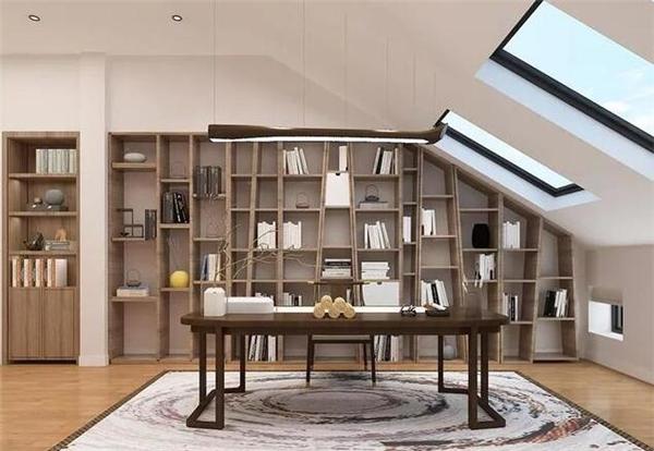 新中式别墅书房装修效果图