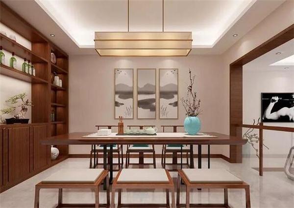 新中式别墅会客区装修效果图