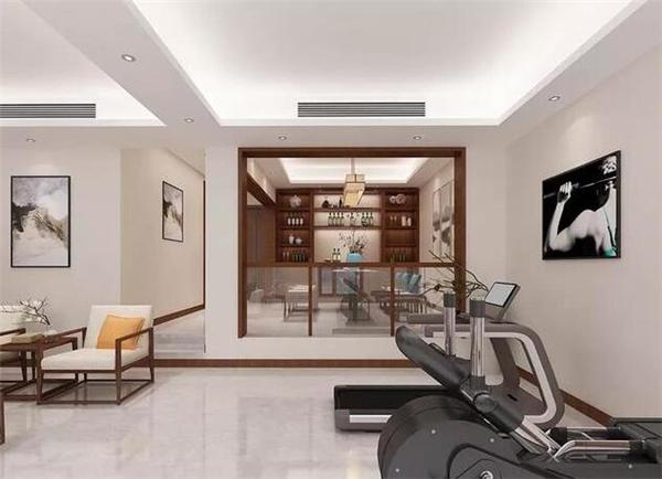 新中式别墅健身房装修效果图
