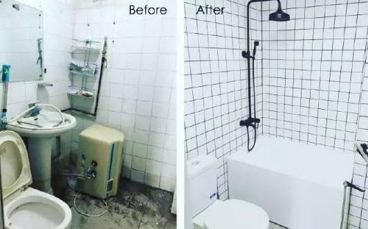 衛生間裝修對比效果圖