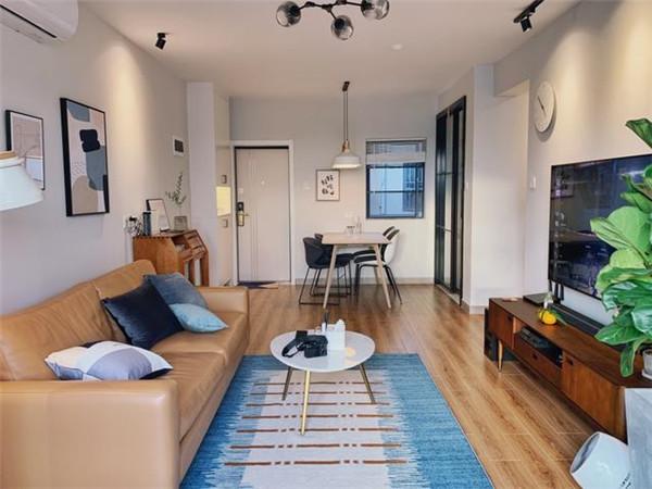 福州60平米两室一厅装修客厅效果图