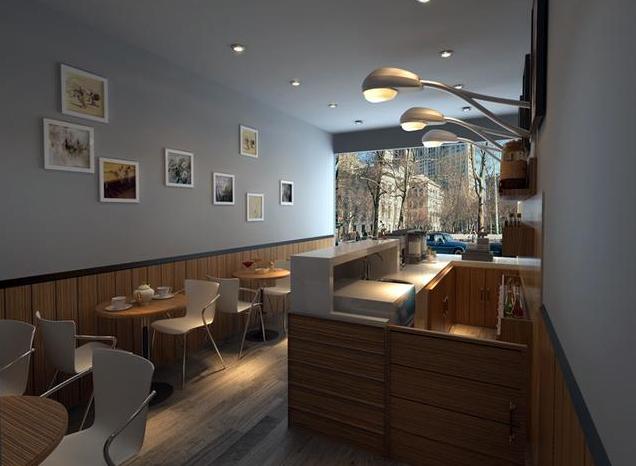 成都现代咖啡厅装修图1