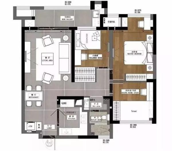 、天津三居室装修设计多少钱