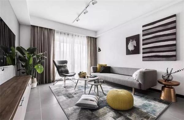 天津100平米三居室装修客厅效果图