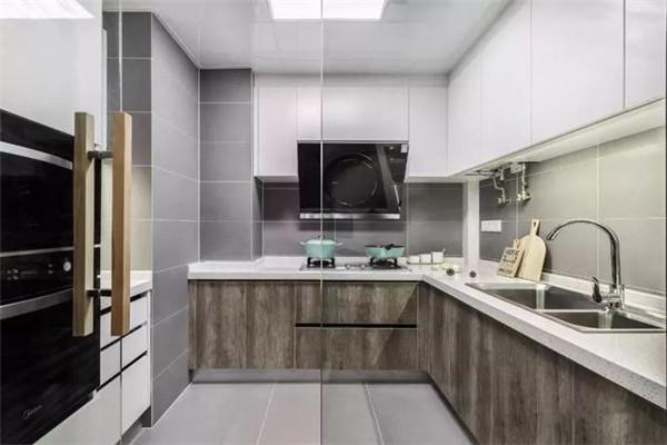 天津100平米三居室装修厨房效果图