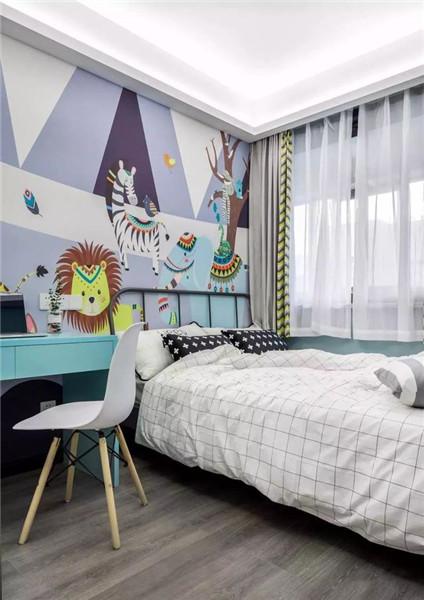 天津100平米三居室装修儿童房效果图