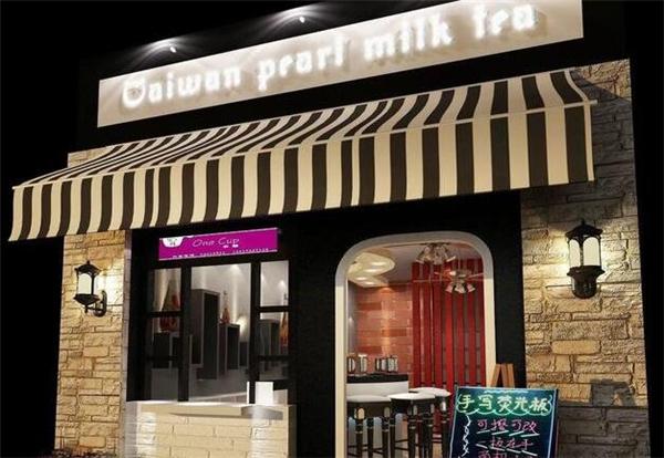 40平米奶茶店铺装修