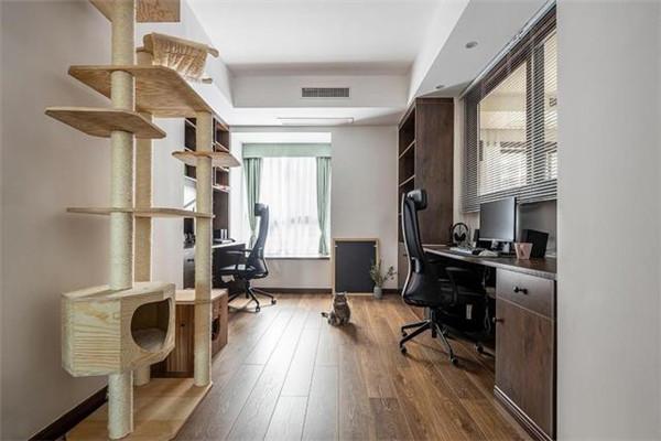 福州三居室装修书房效果图