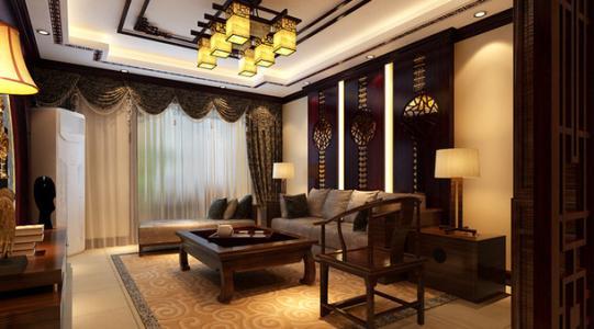 广州小复式楼装修新中式风格效果图