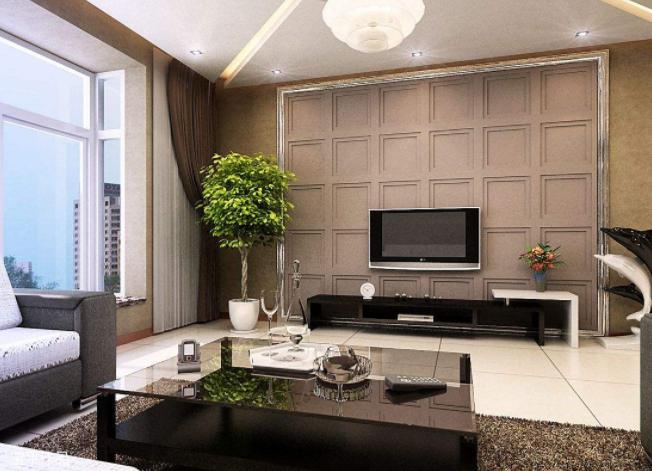 98平客厅三居现代装修设计效果图