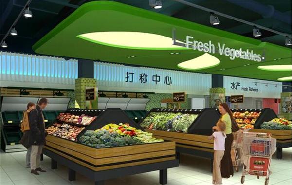 西安超市蔬菜区装修效果图