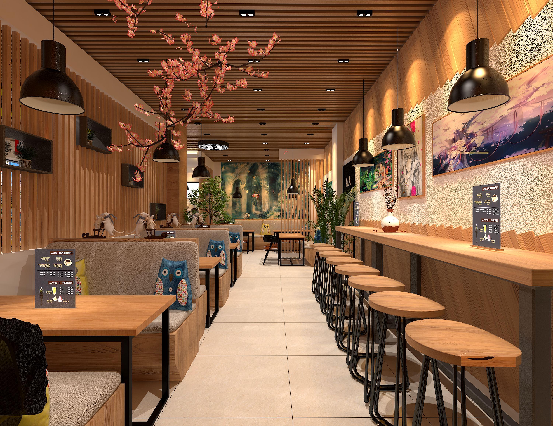 上海奶茶店装修风格