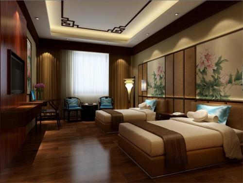 宾馆中式风格装修效果图