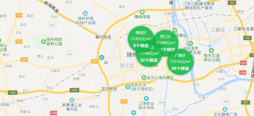 扬州房价地图
