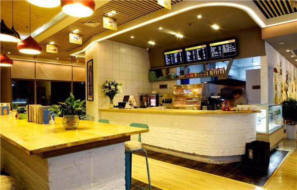 西安奶茶店装修设计