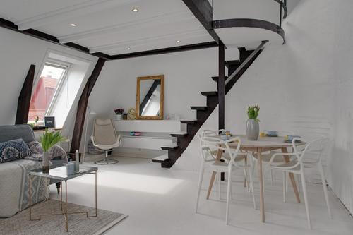 阁楼装修复式风格设计效果图