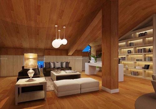 阁楼装修韩式风格设计效果图