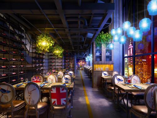 饭店装修工厂风格设计效果图