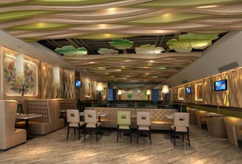 饭店装修民族风格设计效果图
