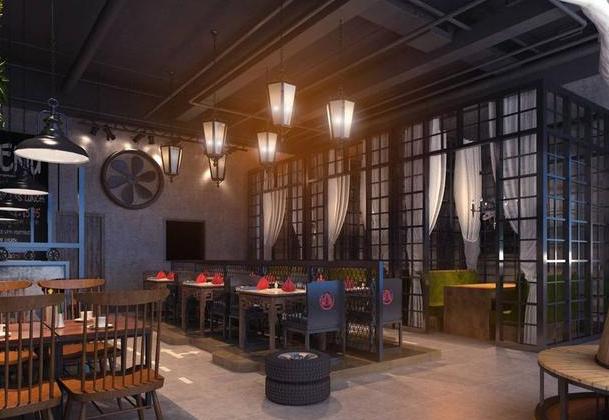 餐饮店工业风装修风格