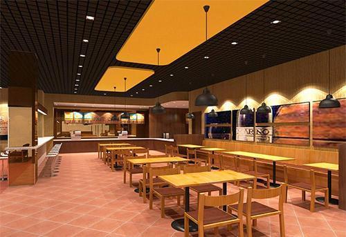 餐饮店装修设计时尚清新风格效果图