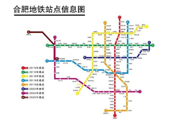 合肥地铁规划线路图