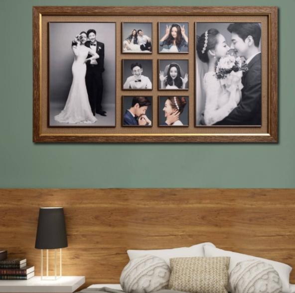 婚紗照掛在臥室床頭正確圖