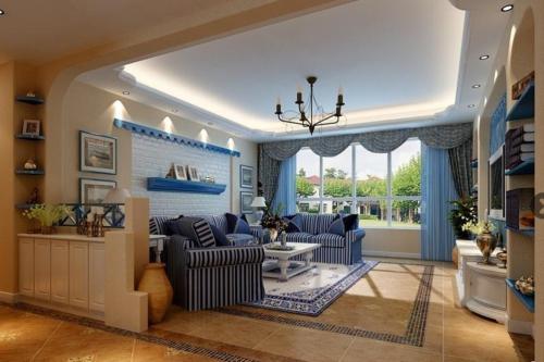 房子装修设计地中海风格效果图