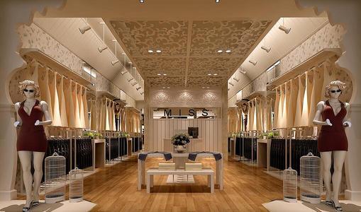 服装店装修设计个性风格效果图