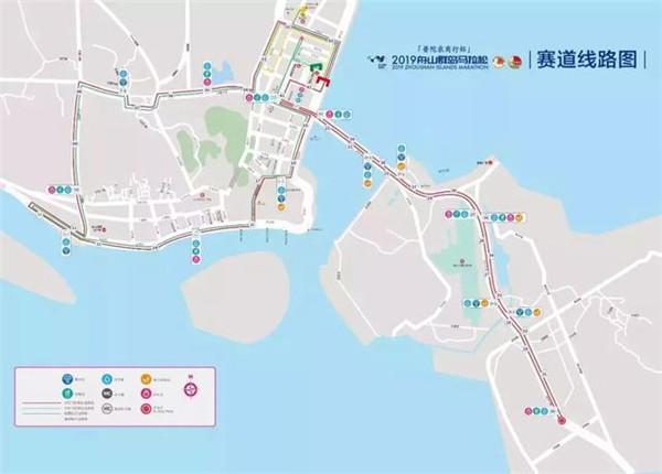 2019舟山国际马拉松路线图
