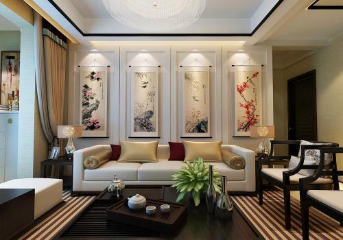 房屋装修中式风格设计效果图