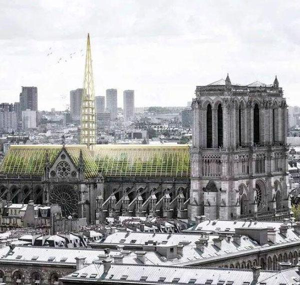 中参与巴黎圣母院修复