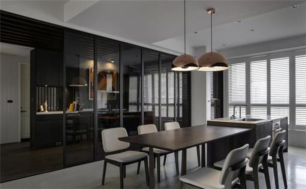 93平米3室装修预算8万餐厅效果图