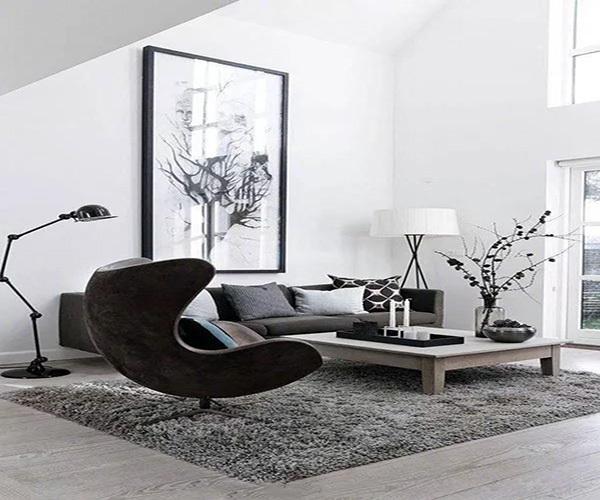 浅灰色地板配什么颜色家具
