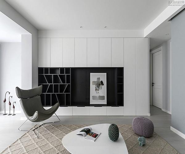 浅灰色地板家具搭配效果案例