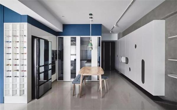 96平方三室一厅装修餐厅效果图