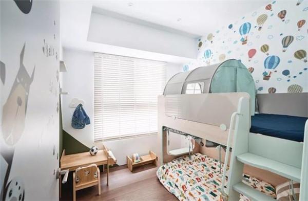 96平方三室一厅装修儿童房效果图