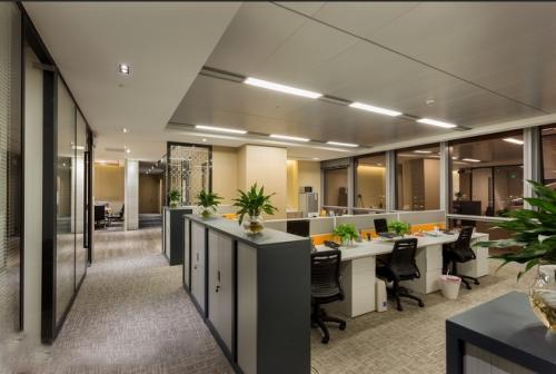 办公室装修简洁型风格设计效果图