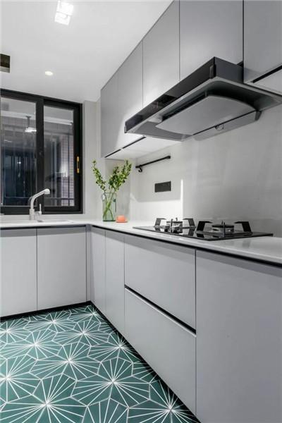 98平房子三室一厅装修厨房效果图