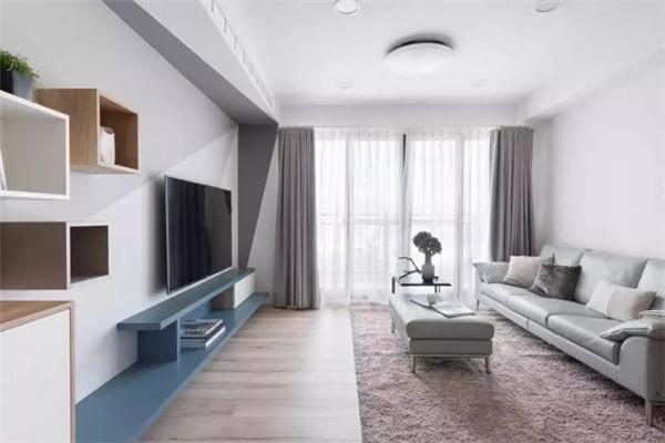 句容中央美地88平米两居装修客厅效果图