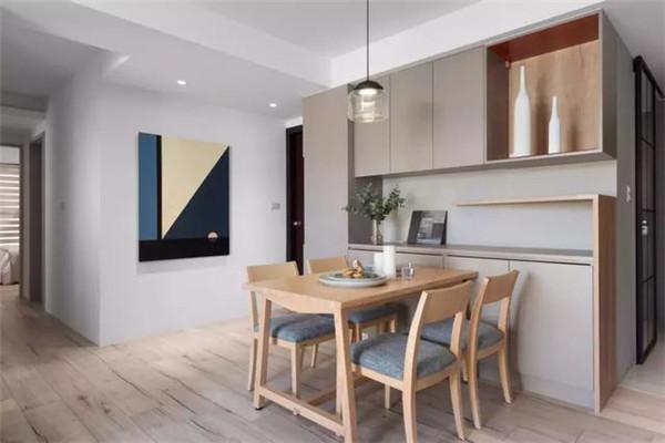 句容中央美地88平米两居装修餐厅效果图
