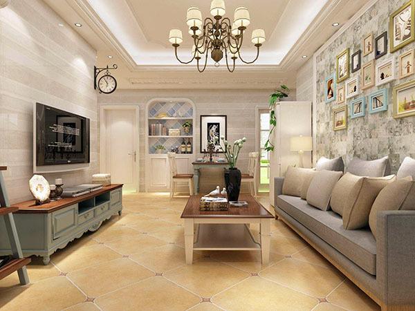 客厅瓷砖什么颜色大气