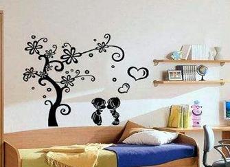 卧室装饰墙贴有哪些贴法  卧室墙贴