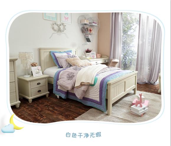 优梵艺术-儿童床 白色.png